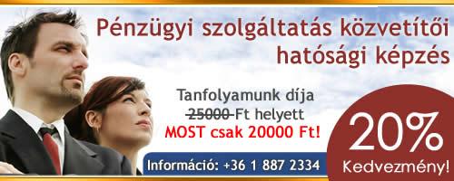 Pénzügyi szolgáltatás közvetítői hatósági képzés