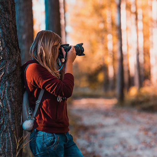 Fotós tanfolyam - Fotós lány, természetfotó