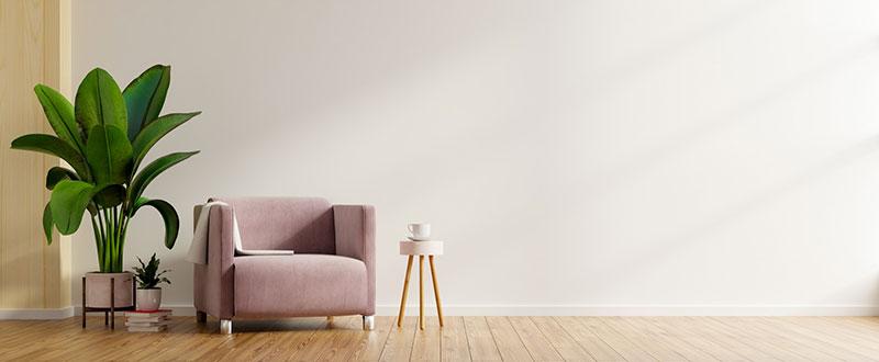 Lakberendező minimalista dizájnterve